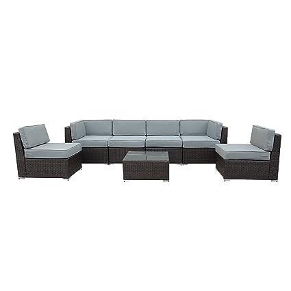 Outstanding Amazon Com Orno Ttobe Outdoor Patio Furniture 7Pc Lamtechconsult Wood Chair Design Ideas Lamtechconsultcom