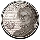 Canada 2013 Laura Secord 25 cents Nice UNC from roll - BU Canadian Quarter