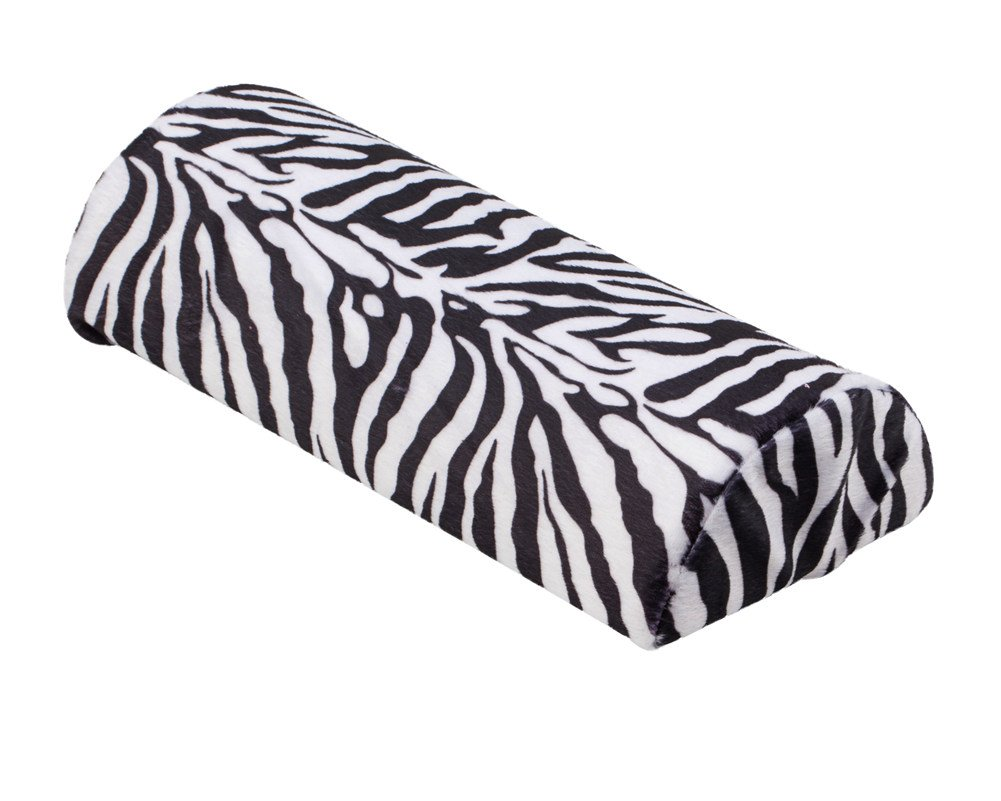 Great Quality Professional Salon Tool Accessory Soft Pillow / Hand Rest In Black And White Coloured Zebra Pattern For Manicure And Nail Art Designs Application By VAGA®
