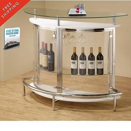 Amazon Com Wine Bar Buffet And Storage Cabinet Modern Wine Rack