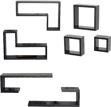Amazon.it: wenge Mensole da muro Porta oggetti, cassetti