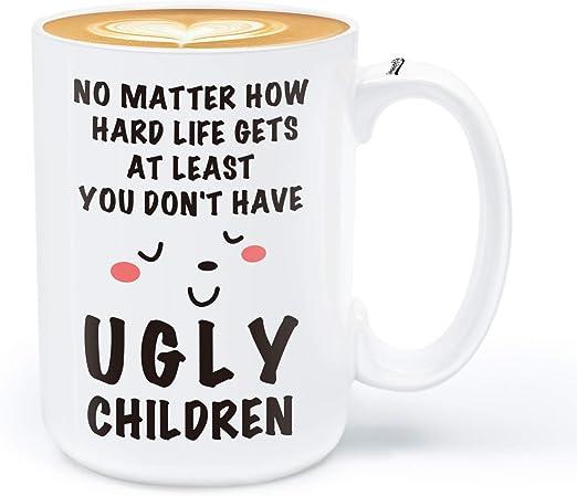 Coffee Mug With Design Printed Ceramic 11oz Cup Dear Mum Greeting White Mug