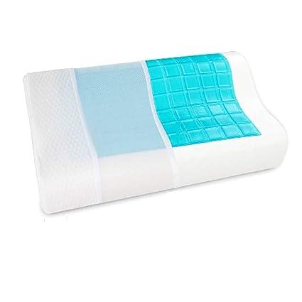 Memory Foam Cooling Pillow Gel Pad For Cool Sleeping Night Orthopedic Comfort