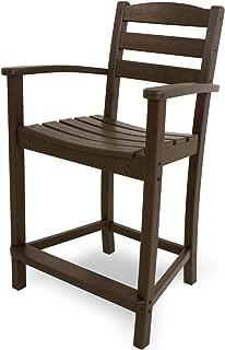 product image for POLYWOOD TD201MA La Casa Café Counter Arm Chair, Mahogany