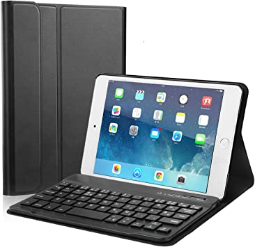Funda Teclado iPad Mini 4/MINI 5, Teclado Bluetooth Extraíble ...