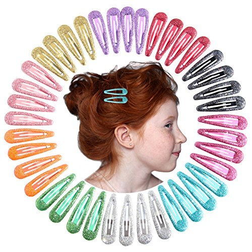 QtGirl Snap Hair Clips 40pcs 2