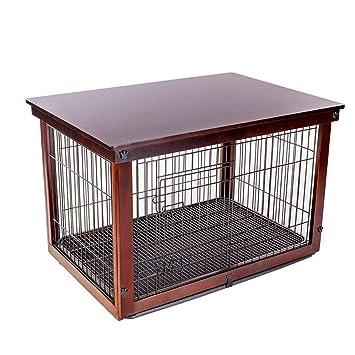 Casetas y Cajas para Perros Jaula para Perros Valla Interior para Mascotas Madera Maciza Hierro Perros pequeños y medianos Valla Cajones y Fundas para ...