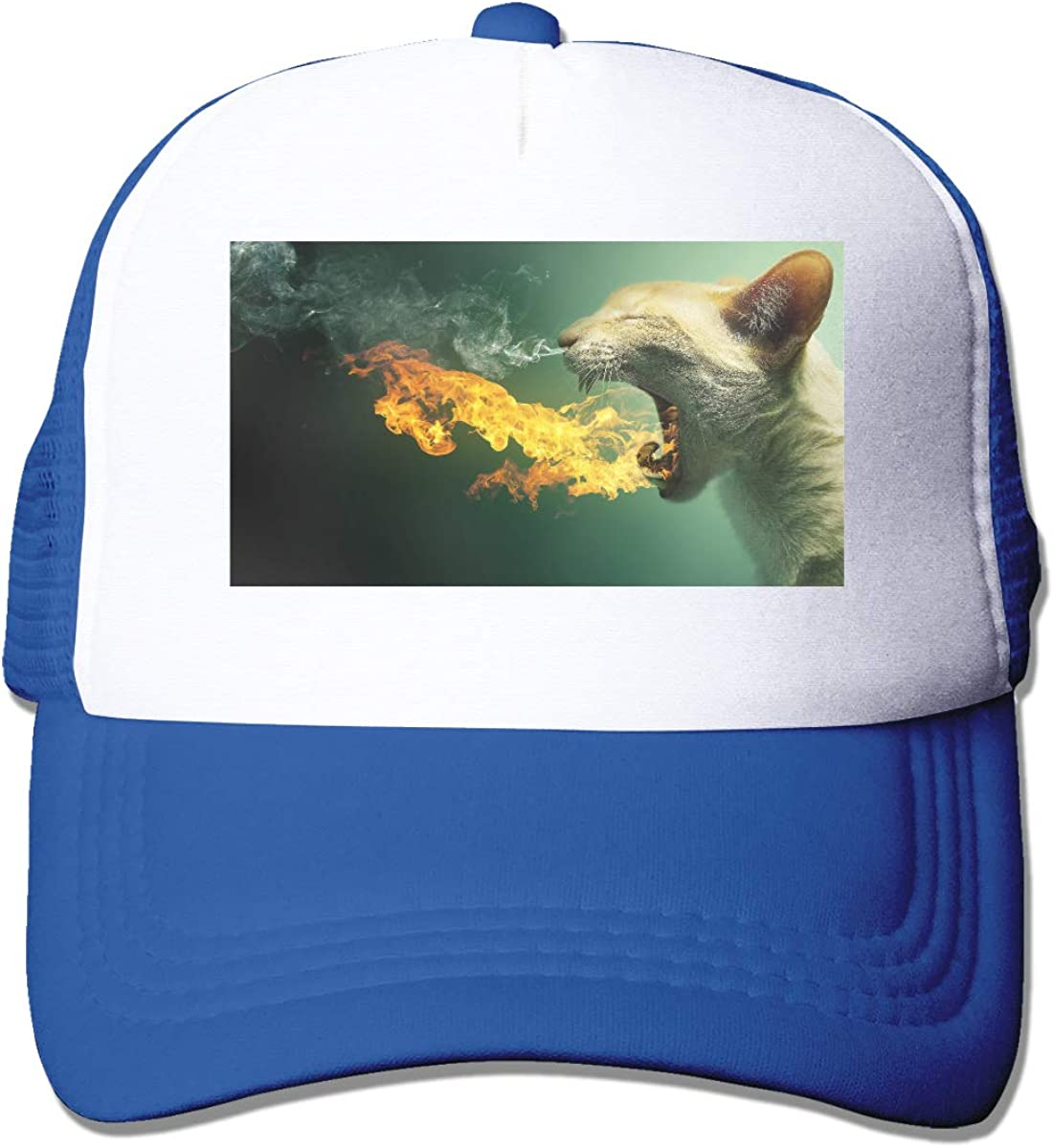 Zhiwei Station Flaming Cat Unisex 3D Printed Trucker Hat