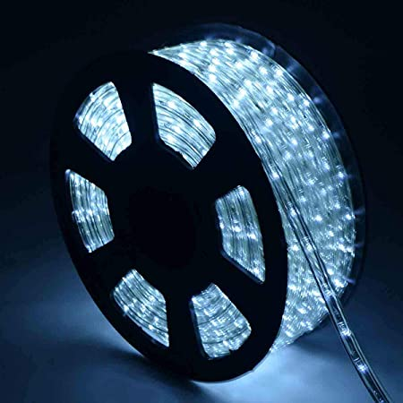 100FT LED Rope Light 110V 2 Wire Home Party Xmas Decorative Lighting Waterproof