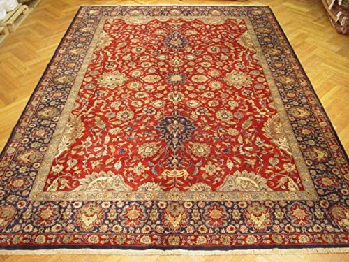 Harooni Vivid Red 14x10 New Jaipur Traditional Hand Knotted Rug