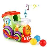 Jouet bébé Train jouet électrique avec de la musique et des lumières, jouets d'éducation précoce pour 18 mois ou plus