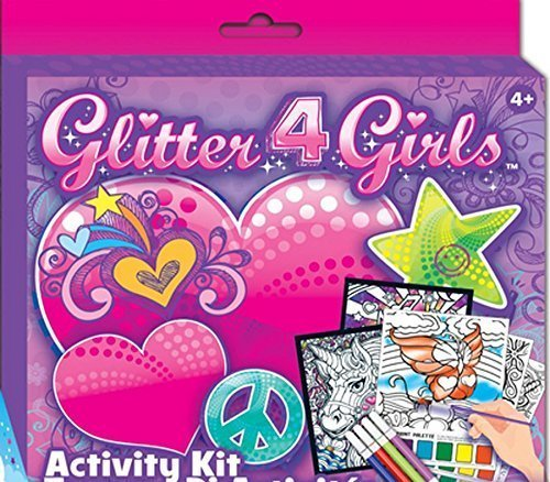 Glitter 4 Girls, 4 Magic Paint Posters for Arts and Crafts Activities Is Sure to Be a Hit At Any Kids Party