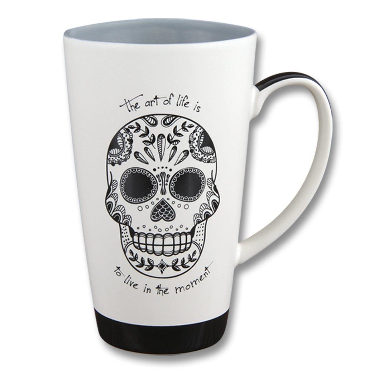 Karma Gifts Black & White Mug, Sugar Skull
