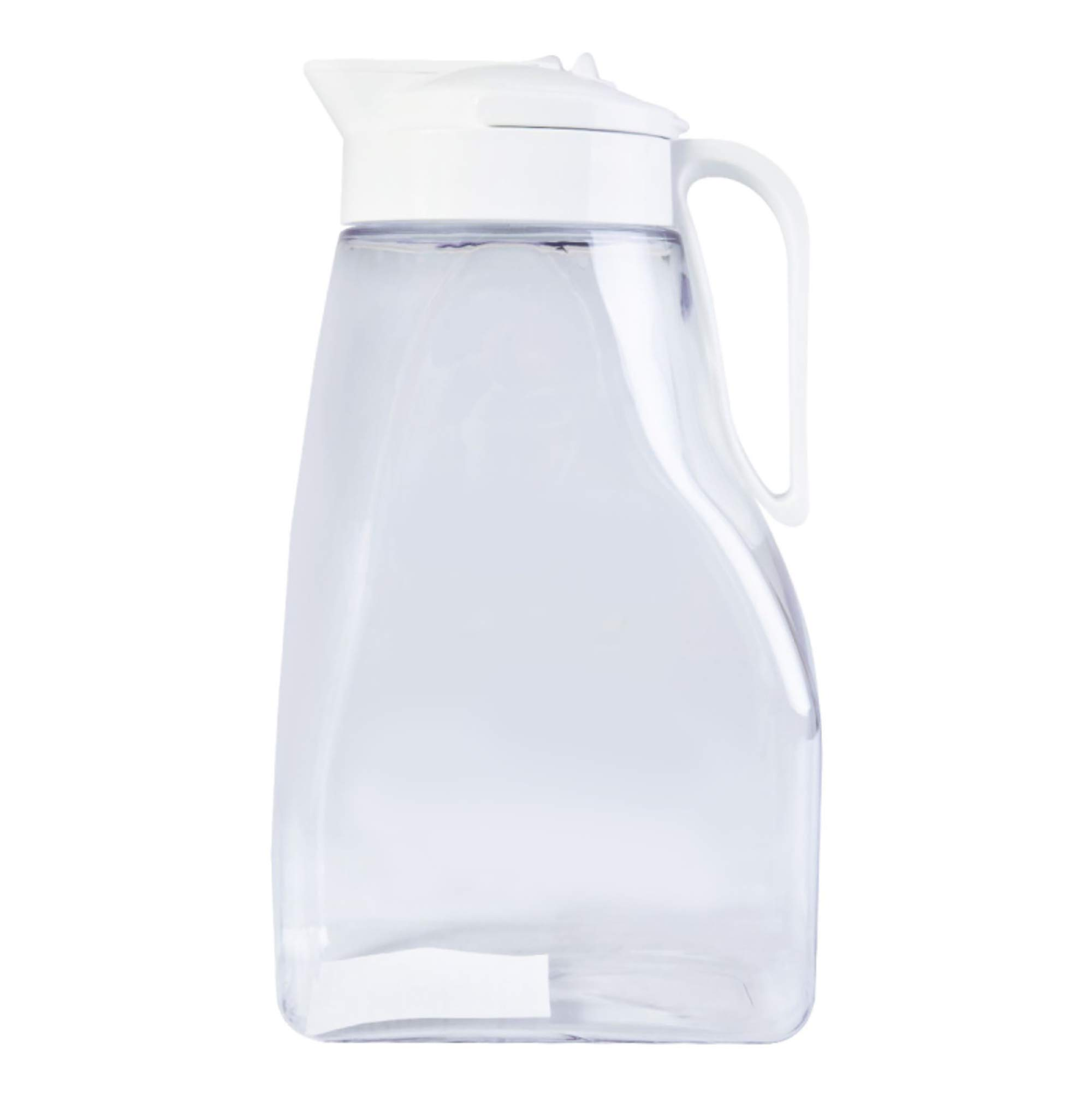 High Heat Resistant One-touch Airtight Pitcher 3.1QT (99oz) for Water, Coffee, Tea, Other Hot or Cold Beverages | Leak Proof & Space Saving, Dishwasher Safe, BPA Free | Made in Japan