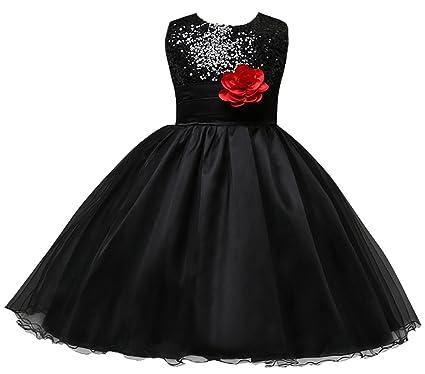 f217ebe5d0fb3 Happy Cherry Robe de Princesse pailleté Pour Enfant Fille en Tulle - Robe  de Cérémonie