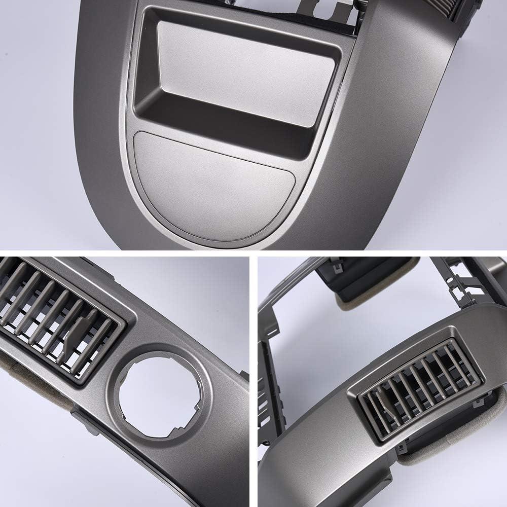 WITHOUT center speaker New Center Dash Radio AC Finisher Surround Bezel For Nissan Titan SE /& XE//Nissan Armada SE 2004-2006