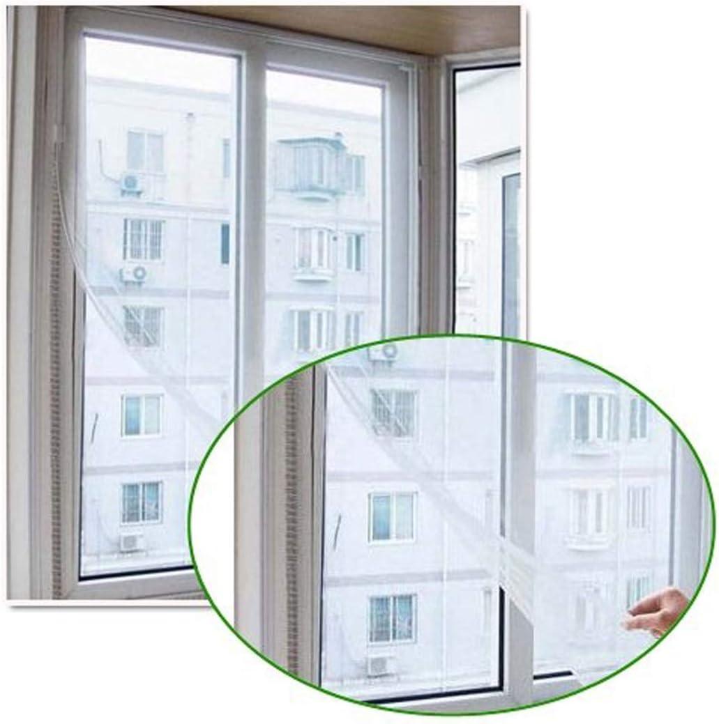 TRIXES Kit zanzariera bianca anti insetto//zanzare per porte e finestre