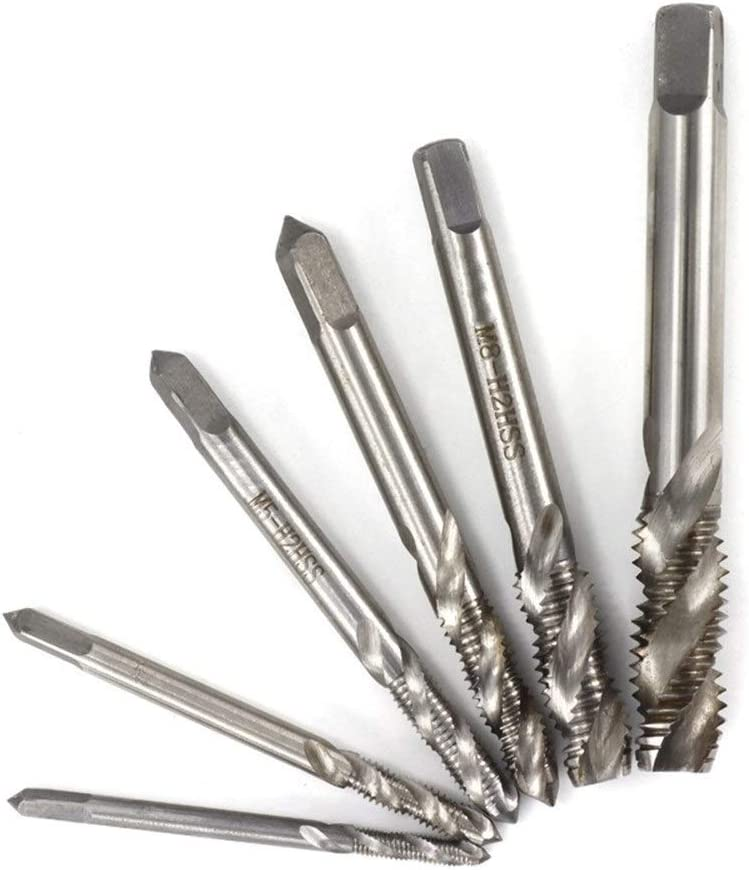 Color : M4x0.7 SHENYUAN 1pc M3 M4 M5 M6 M8 M10 Spiral Machine Tap for Metalworking HSS Metric Thread Tap Straight Shank Screw Tap Drill Bit