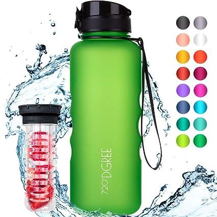 """720°DGREE Botella de Agua """"uberBottle"""" – 1500ml   Impermeable y Reutilizable   para Beber Ideal para niños, Deporte, Escuela   Sin BPA   con Inserto ..."""