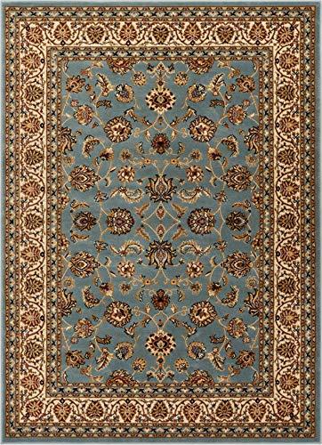 Well Woven Barclay Sarouk Light Blue Traditional Area Rug 6'7'' X 9'6''