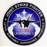ドレスアップステッカー F-35 LIGHTNINGⅡ 防水紙シール スーツケース・タブレットPC・スケボー・マイカーなどに