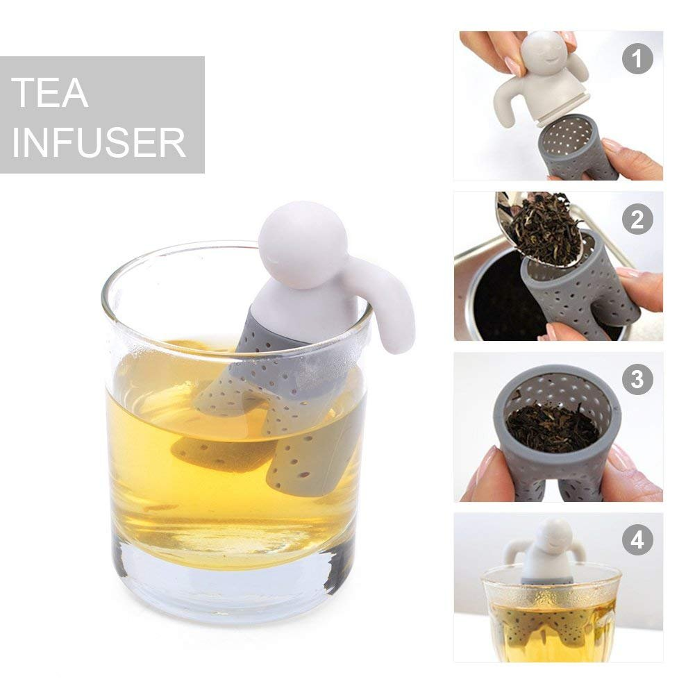 Silicone Tea Infuser Set of 5,BPA Free Cute Tea Leaf Filter Herbal Spice Strainer Perfect for Tea Lovers