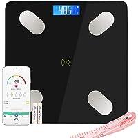 LIFE-LXC Bluetooth Báscula de Baño- Smart Báscula de baño ultrafina para medir la grasa…
