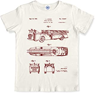 product image for Hank Player U.S.A. Fire Truck Patent Men's T-Shirt