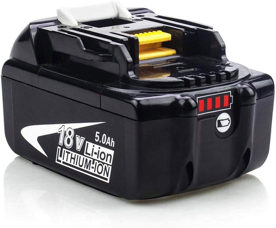 Topbatt 2X BL1860B 18V pour Makita batterie de rechange BL1860 BL1850B BL1850 BL1840 BL1830 BL1835 BL1845 BL1815 LXT-400 avec Indicateur LED Sans fil Outils /électroportatifs