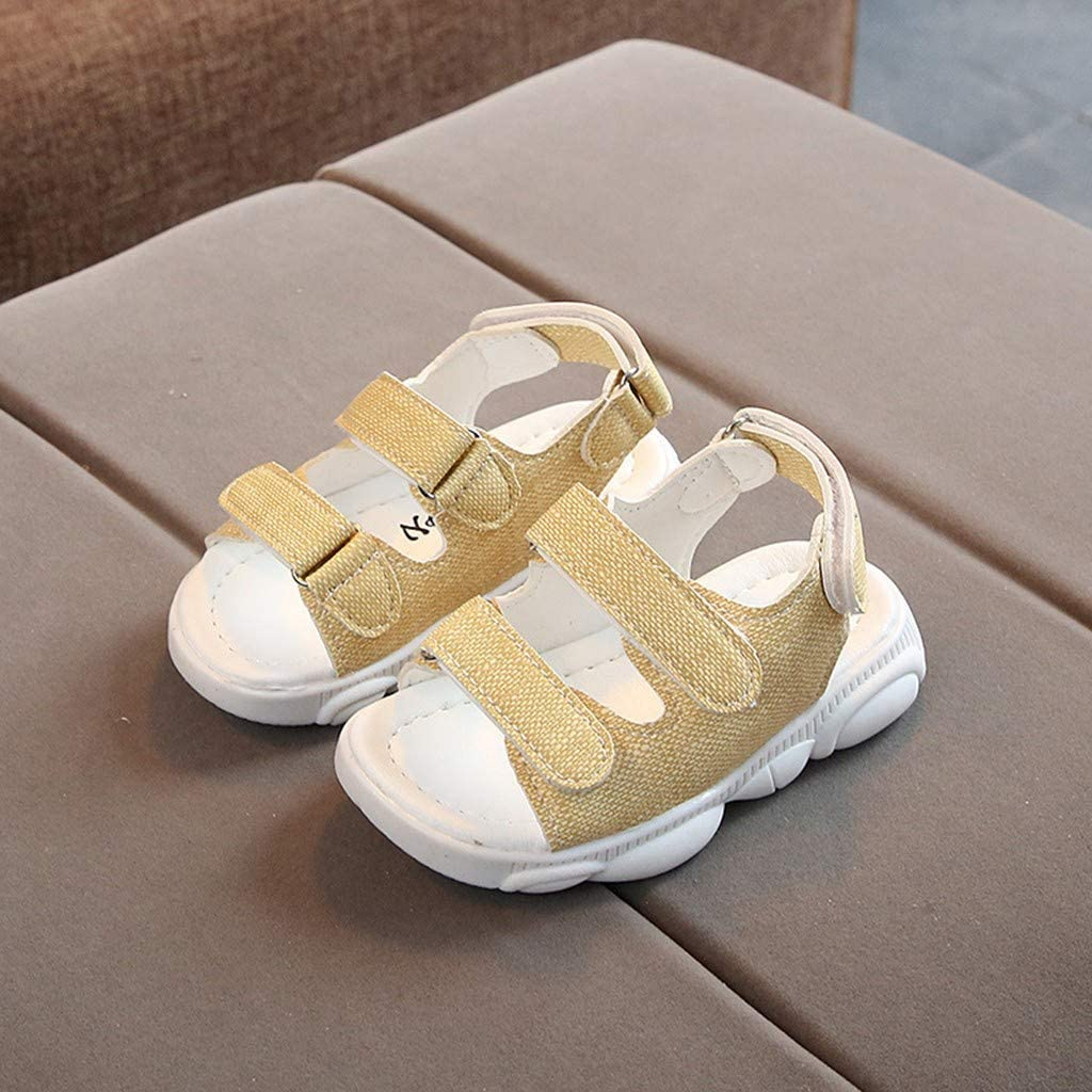 Infant Baby Girls Solid Color Velcro Sport Beach Sneaker Sandals Casual Shoes,15 Months-6 Years,SIN vimklo