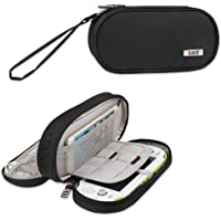 BUBM Double Compartment Storage Case for Sony PSV, Protective Carrying bag, Portable Travel Organizer Case for PSV and Other Accessories black LBM13201