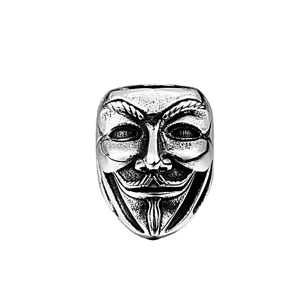 Stainless Steel vendetta Mask Ring (9)