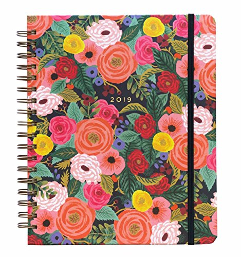 Juliet Rose Weekly 17 Month Jumbo Spiral Planner with Stickers by Rifle Paper Co. (Rifle Paper Calendar)