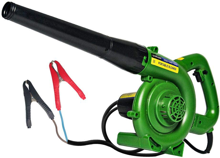 Spardar Soplador de Hojas, Fuente de alimentación de batería de Coche barredora de 12 V para Hojas sopladas, eliminación de Polvo y Basura pequeña, automóvil, Host de computadora