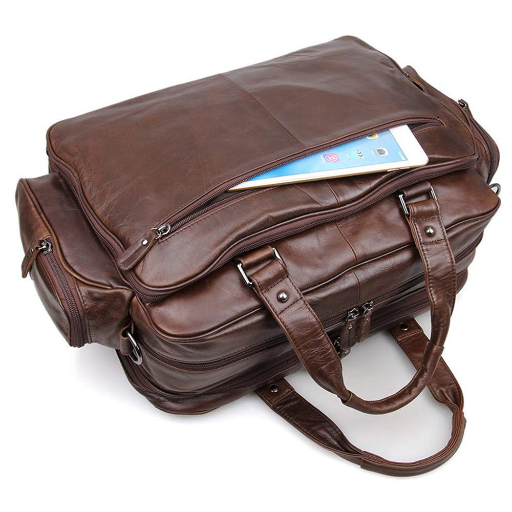 b60c8f205745 LBYMYB Men's Bag Classic Simple Leather Briefcase Large Capacity ...