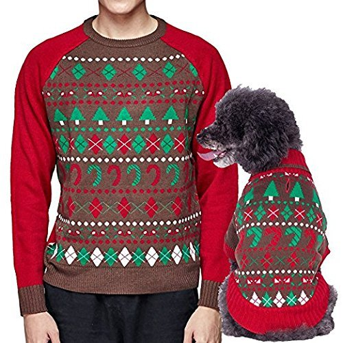 amazoncom blueberry pet 6 patterns ugly christmas santa claus holiday season shawl collar dog sweater back length 16 pack of 1 clothes for dogs pet