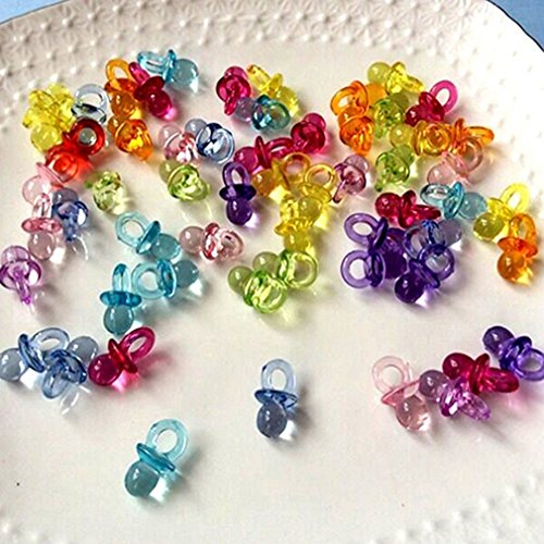 Polytree 50pcs Mini Pacifiers Baby Shower Party Favours Girl Boy Game Decor -