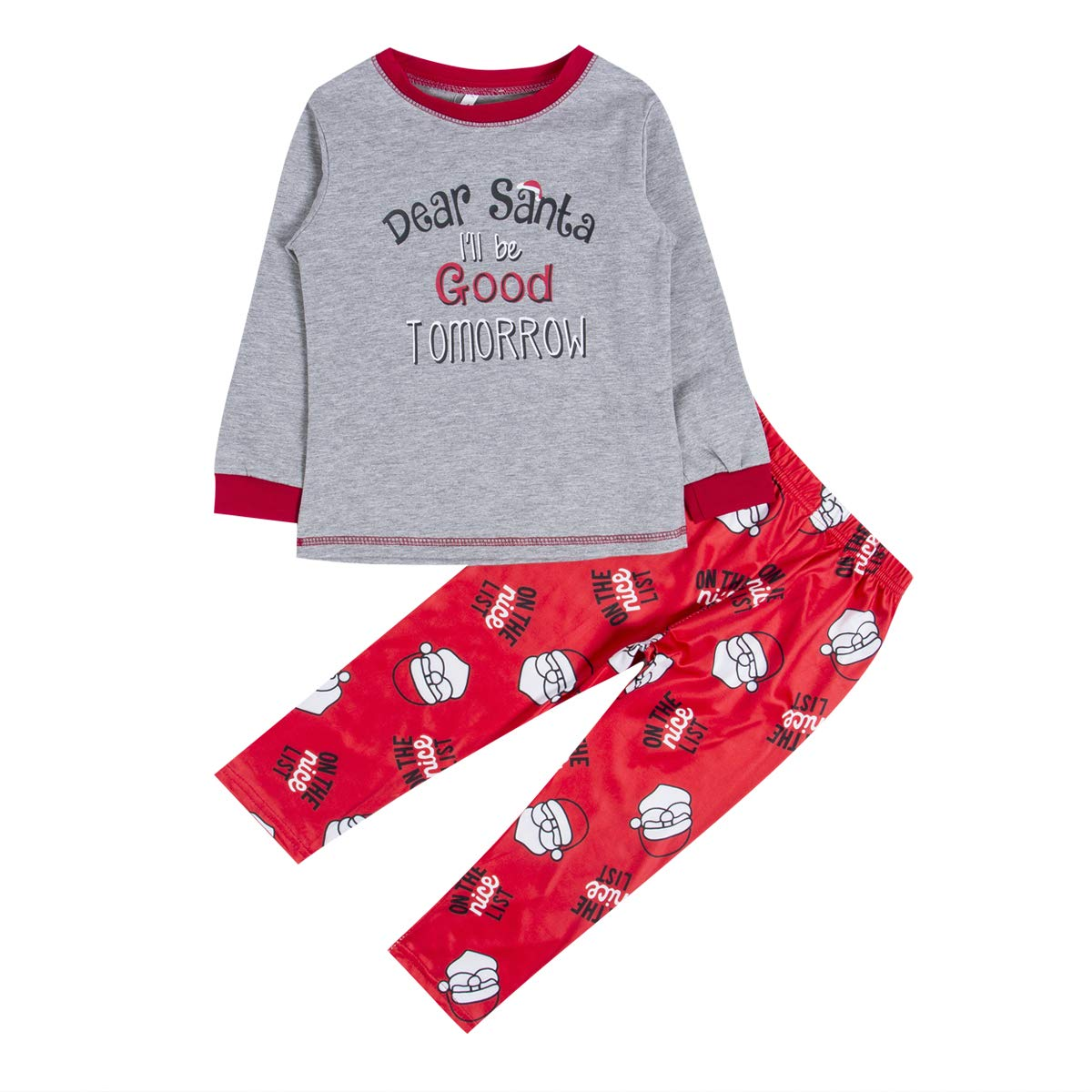 7a0b07adc Amazon.com  Pettstore Cotton Parent-Child Outfit Santa Pyjamas Set ...