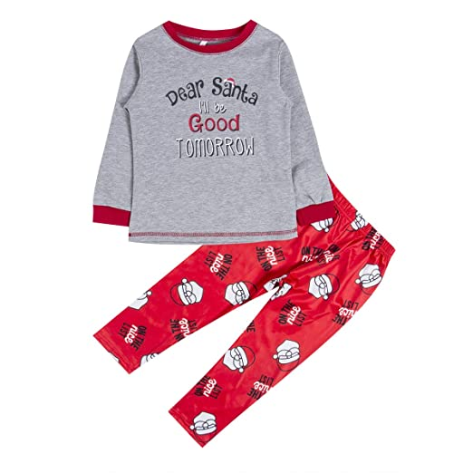 eeacbab575 Pettstore Cotton Parent-Child Outfit Santa Pyjamas Set Family Suit Long  Sleeve + Trousers Christmas