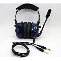 General Aviation Pilot Youth Headset Aircraft GA connector 3.5MM MP3 Input BLUE