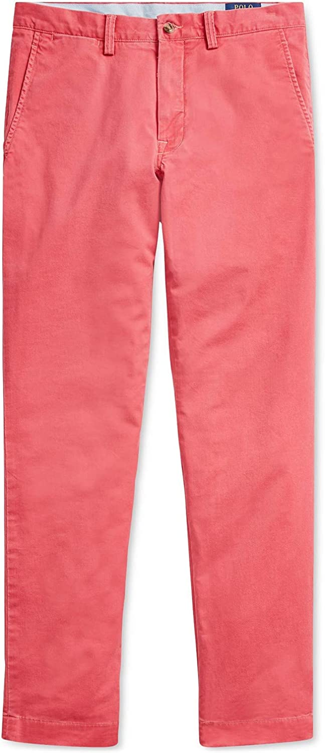 Ralph Lauren Polo Mens Stretch Straight Fit Flat Front Chino Pants