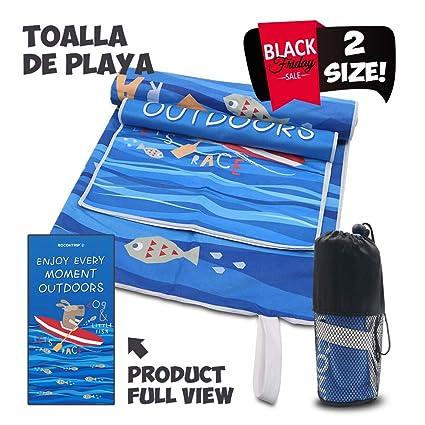 ROCONTRIP Microfiber Towel, Fast Drying Towel, Swimming Towel, Absorbent Towel, Microfiber Towel