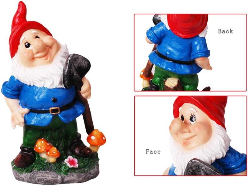 HomDSim - Figura Decorativa de gnomos de jardín (27,9 cm), Pala Gnomo: Amazon.es: Jardín