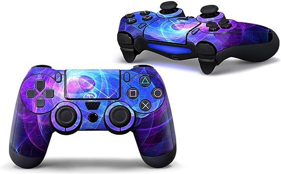 morbuy Diseño PS4 – Protector de pantalla vinilo adhesivo pegatinas Set de moldeado para Sony Playstation 4 Controlador X 1 (también PS4 Slim & PS4 Pro) morado Purple Circle: Amazon.es: Informática