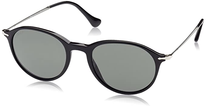 83ce01ad326 Image Unavailable. Image not available for. Colour  Persol 3125S 95 58 Black  3125S Oval Sunglasses ...