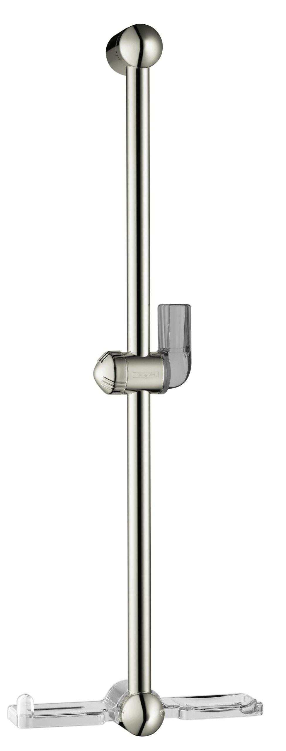 Hansgrohe 06890830 Unica E Wall Bar, 26-Inch, Polished Nickel