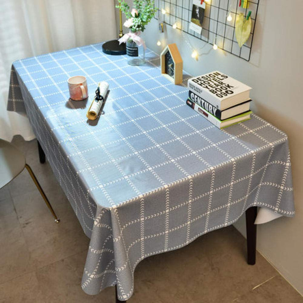 WJJYTX Plastic Tablecloth Wipe clea,Square Table Cover Cloth Tablecloth and Various Sizes-Dirt Repellent Tablecloth Student Table cloth-90 * 150_J