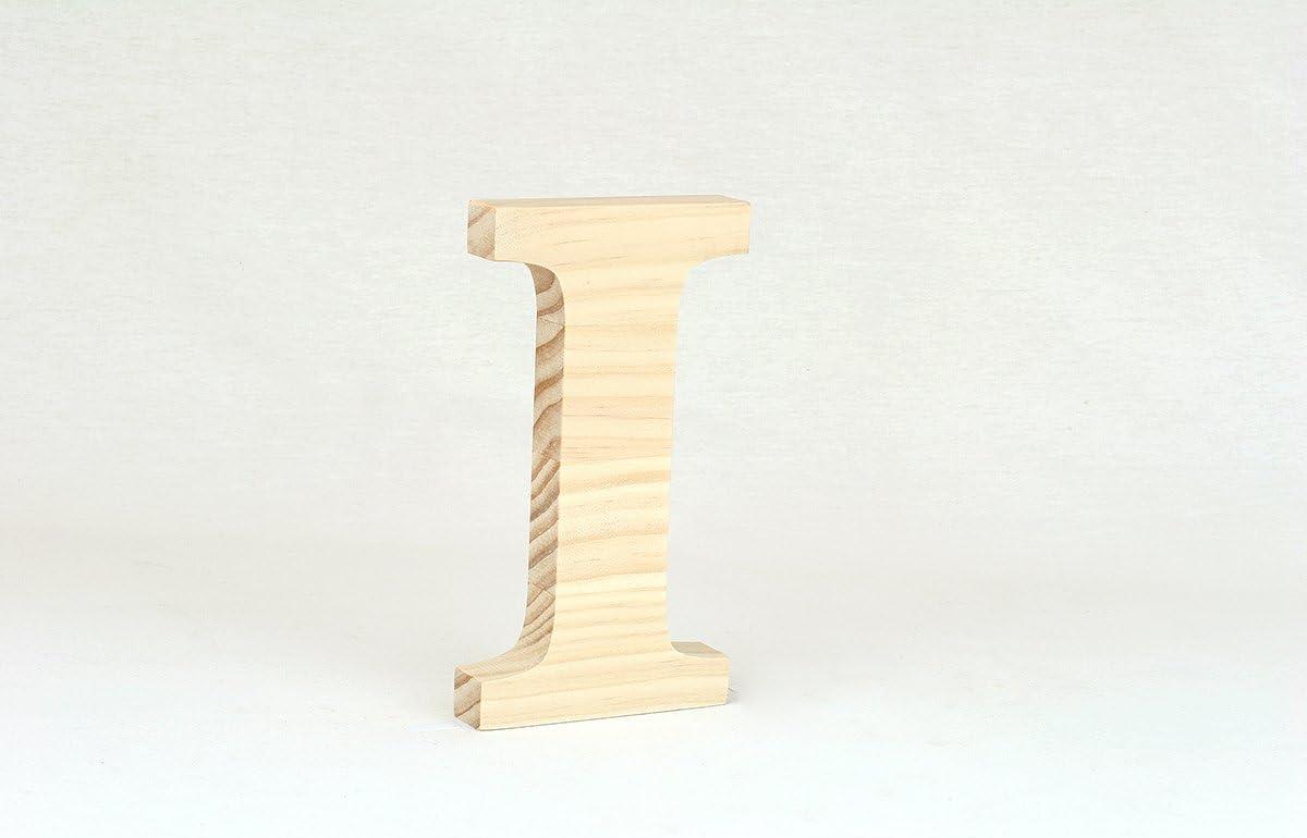 Letra Madera de Pino 15cm I