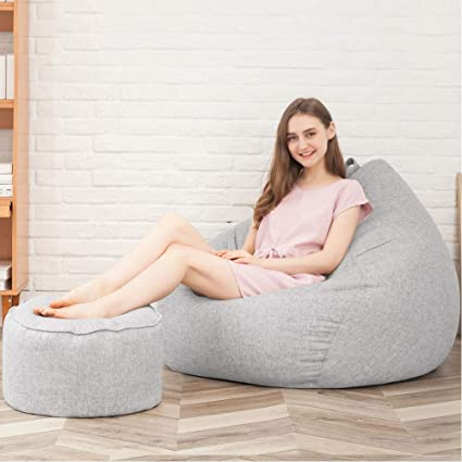 Marvelous Amazon Com Nagu Bean Bag Cover Large Washable Canvas For Ibusinesslaw Wood Chair Design Ideas Ibusinesslaworg