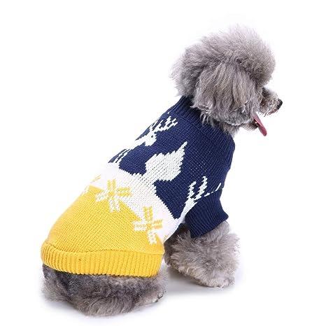RFVBNM Perro suéter Ropa para Perros Dibujos Animados Azul ...